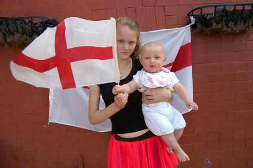 St George is cross in Preston – England flags as Germany beat us 4-1